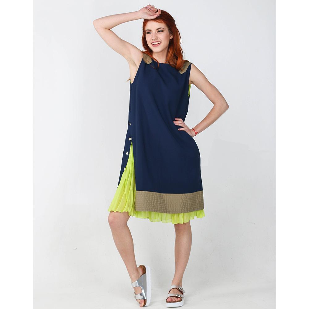 Платье Iceberg синего цвета до колен