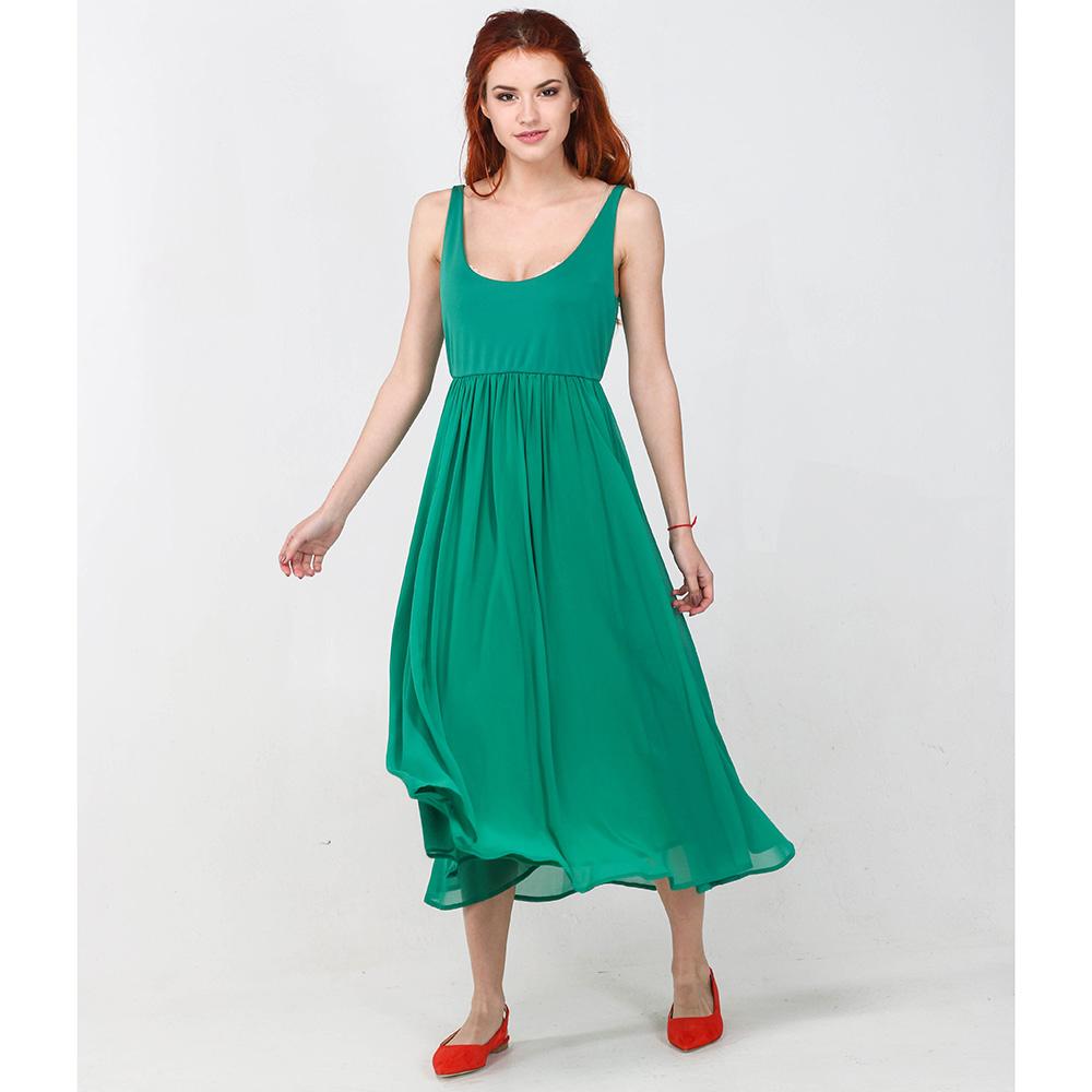 Зеленое платье Seventy с пышной юбкой