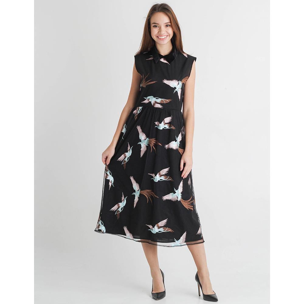 Платье Sandro Ferrone с вышитыми птицами