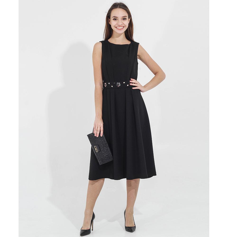 Платье до колен Sandro Ferrone черного цвета