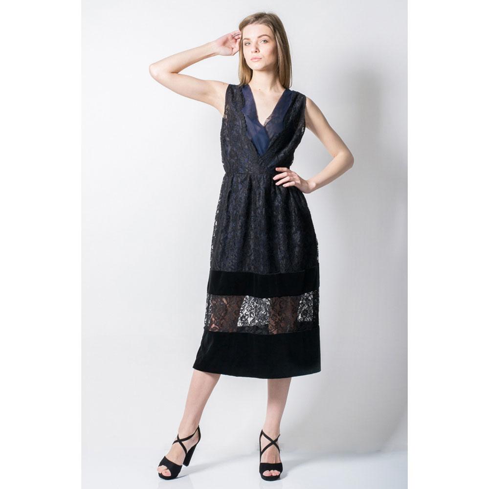 Кружевное платье Tensione in с синей вставкой