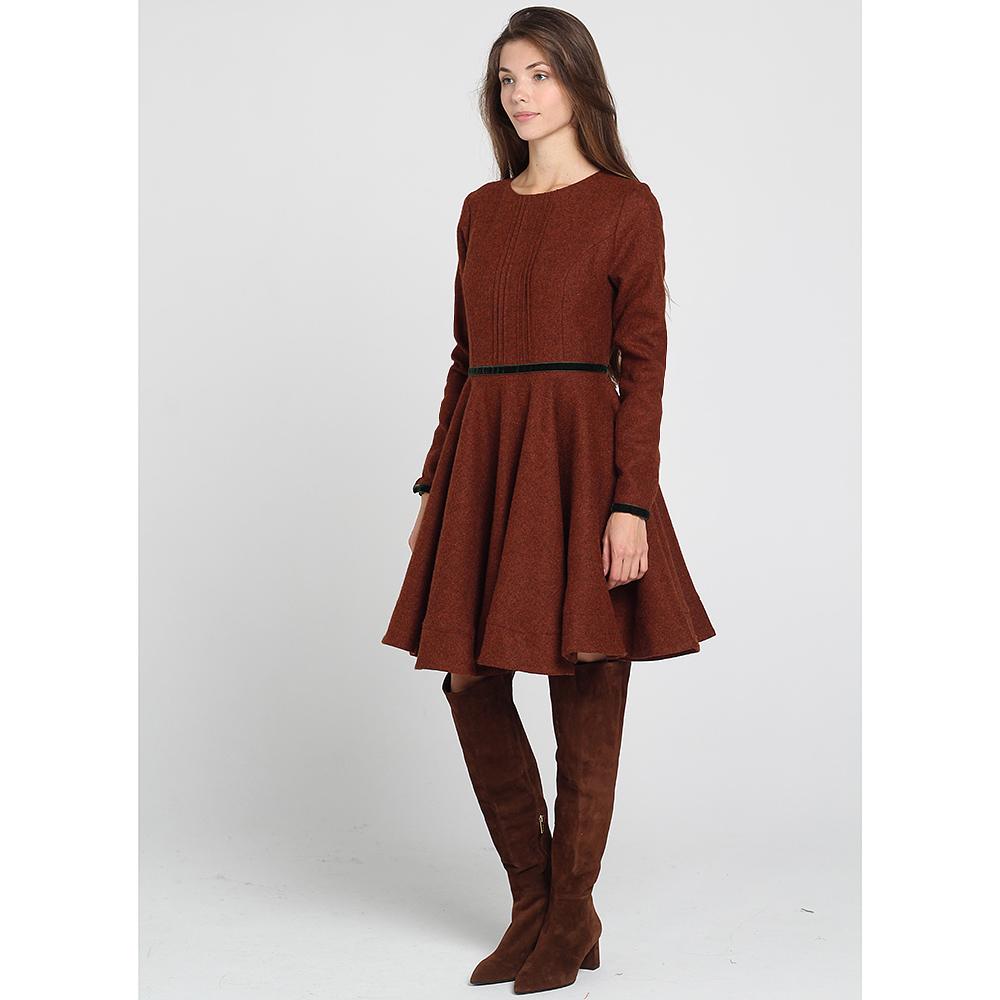 Платье Kristina Mamedova с расклешенной юбкой коричневого цвета