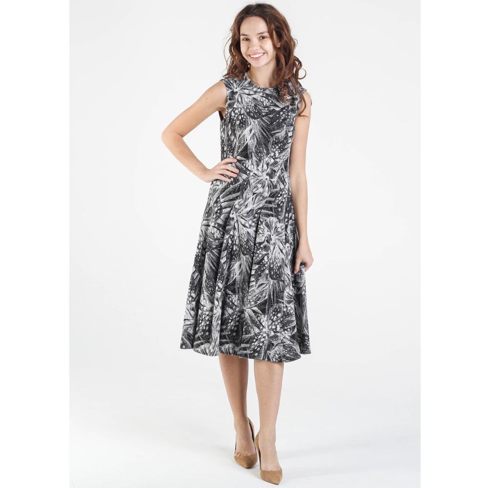 Платье Shako черно-белого цвета с цветочным принтом