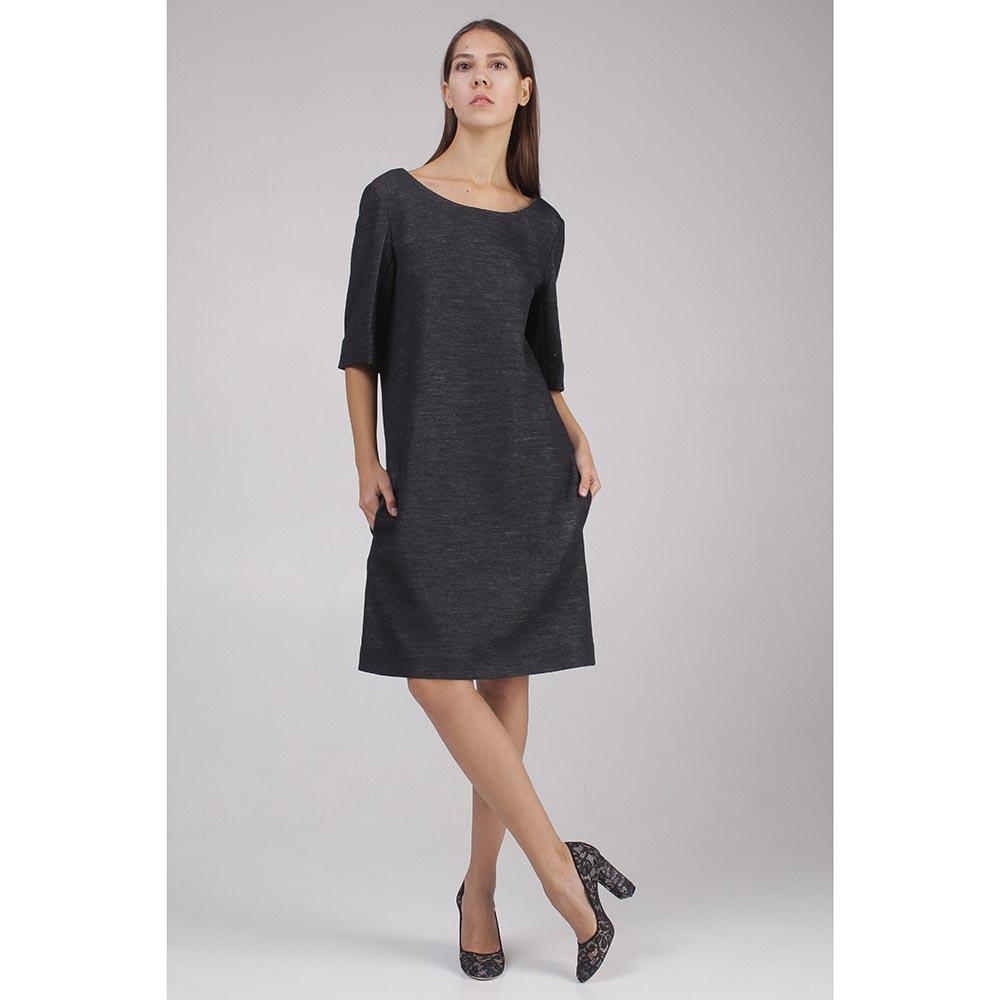Серое платье Sonia Rykiel прямого кроя