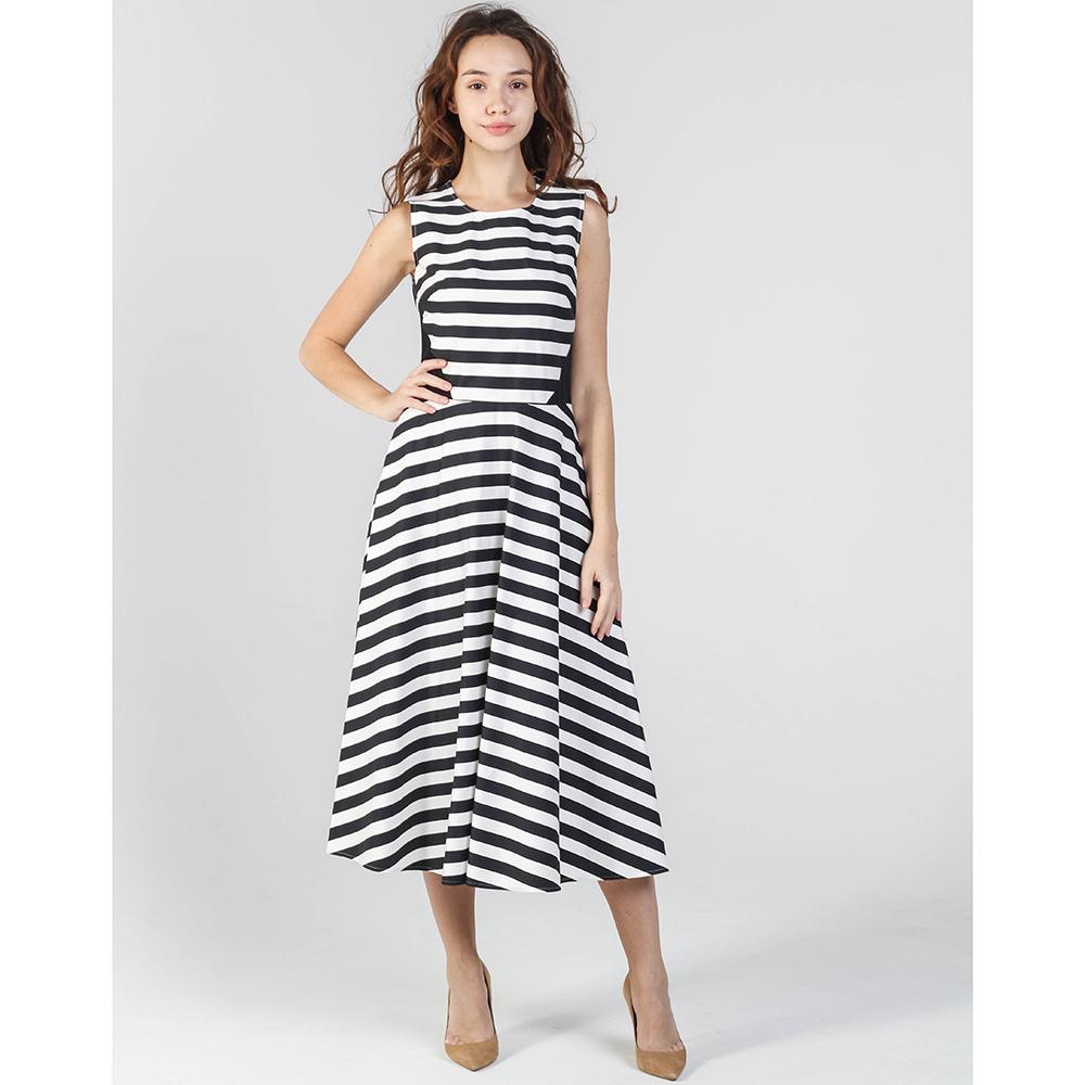 Платье-миди Shako в черно-белую полоску
