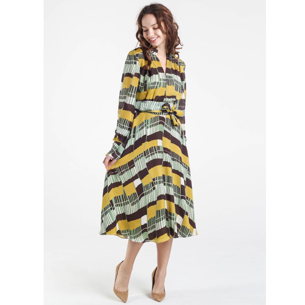 Платье-миди Shako с пышной юбкой в цветную полоску