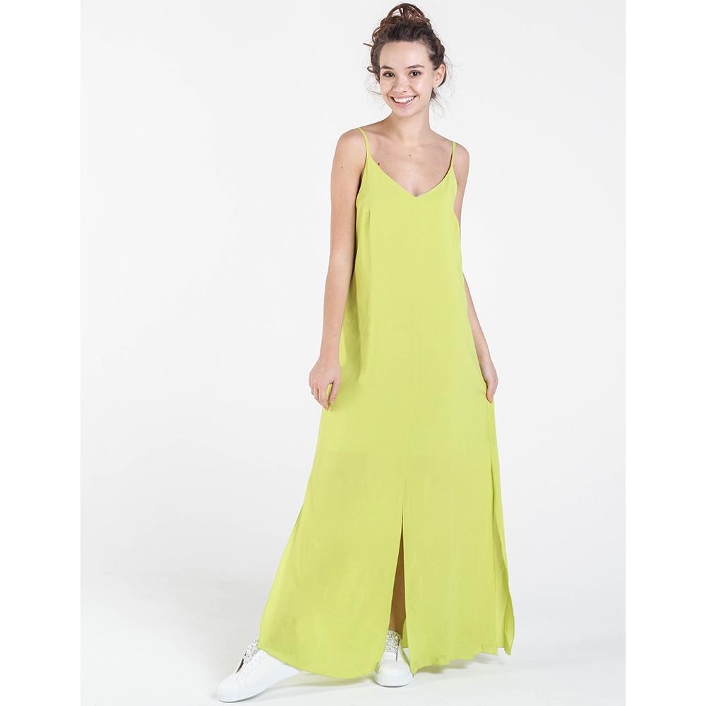 Салатовое платье в пол Shako на тонких бретельках