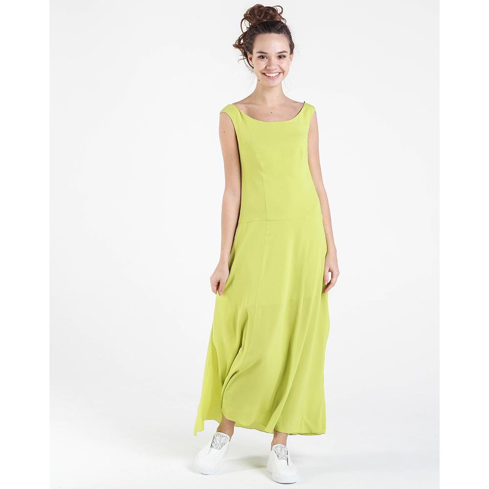 Длинное салатовое платье Shako со спущенными плечами