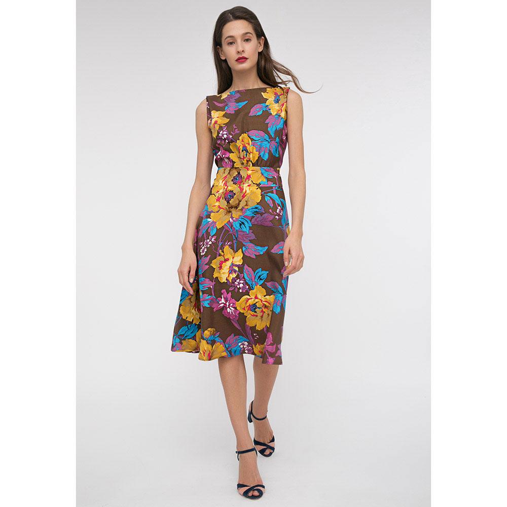 Платье-миди Shako с ярким цветочным принтом