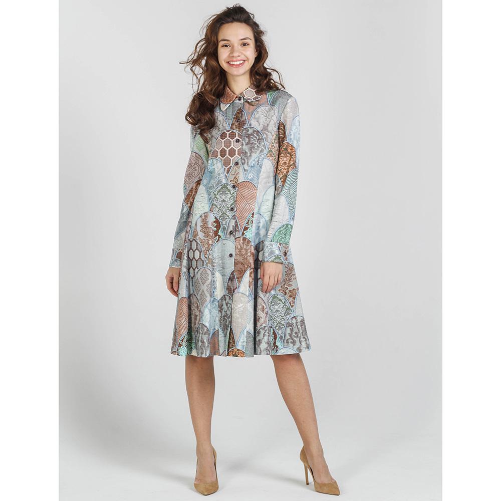 Платье-рубашка Shako серого цвета с пуговицами