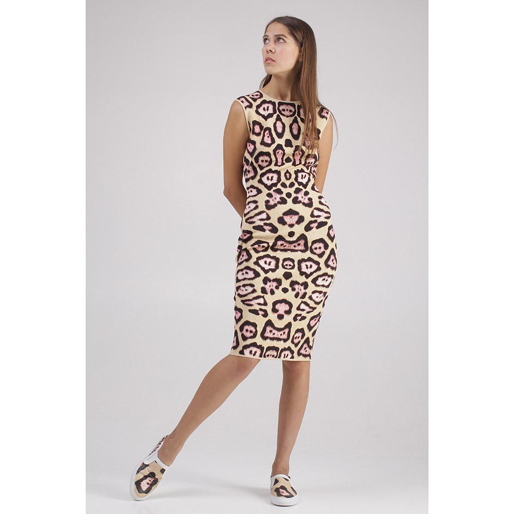 Трикотажное платье Givenchy с леопардовым принтом