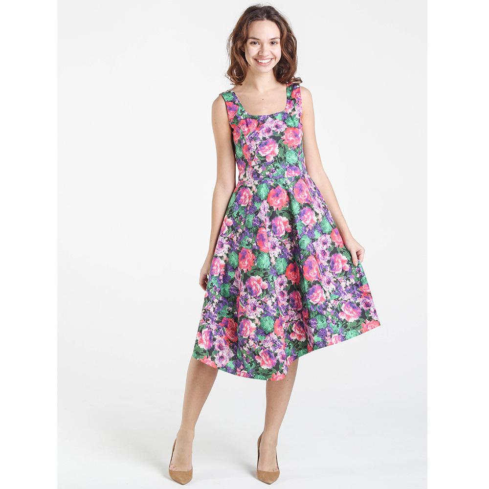 Трикотажное платье Shako с ярким цветочным принтом