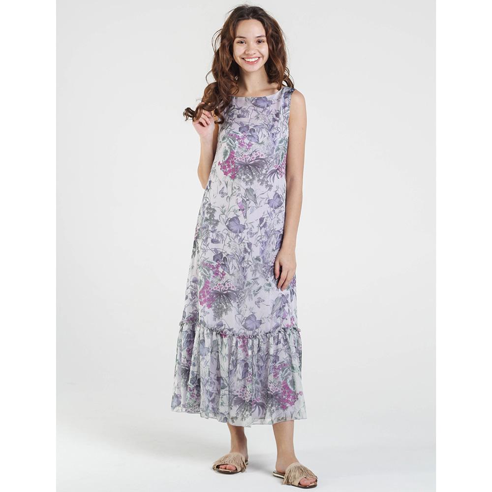 Длинное фиолетовое платье Shako с пышной юбкой