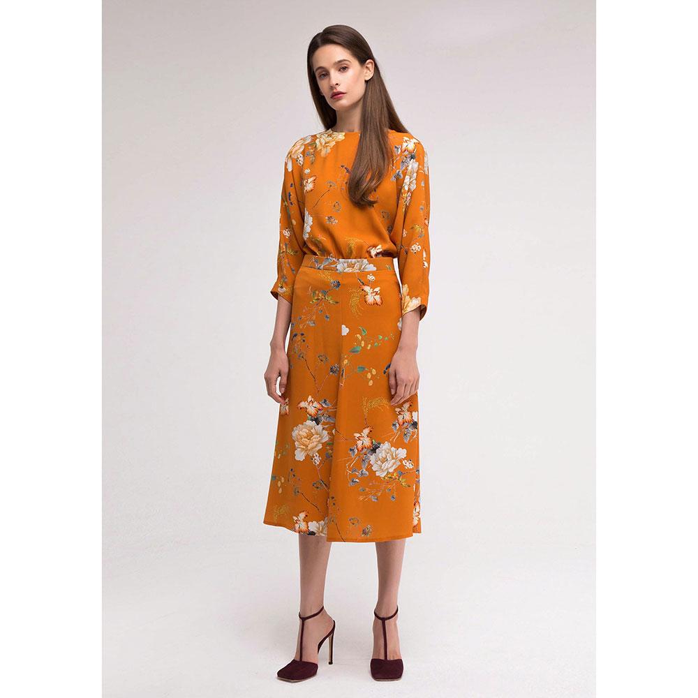 Оранжевое платье Shako с рукавом летучая мышь