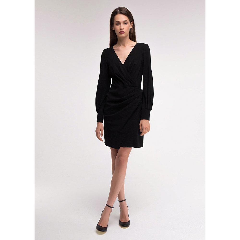 Черное платье Shako с драпировкой