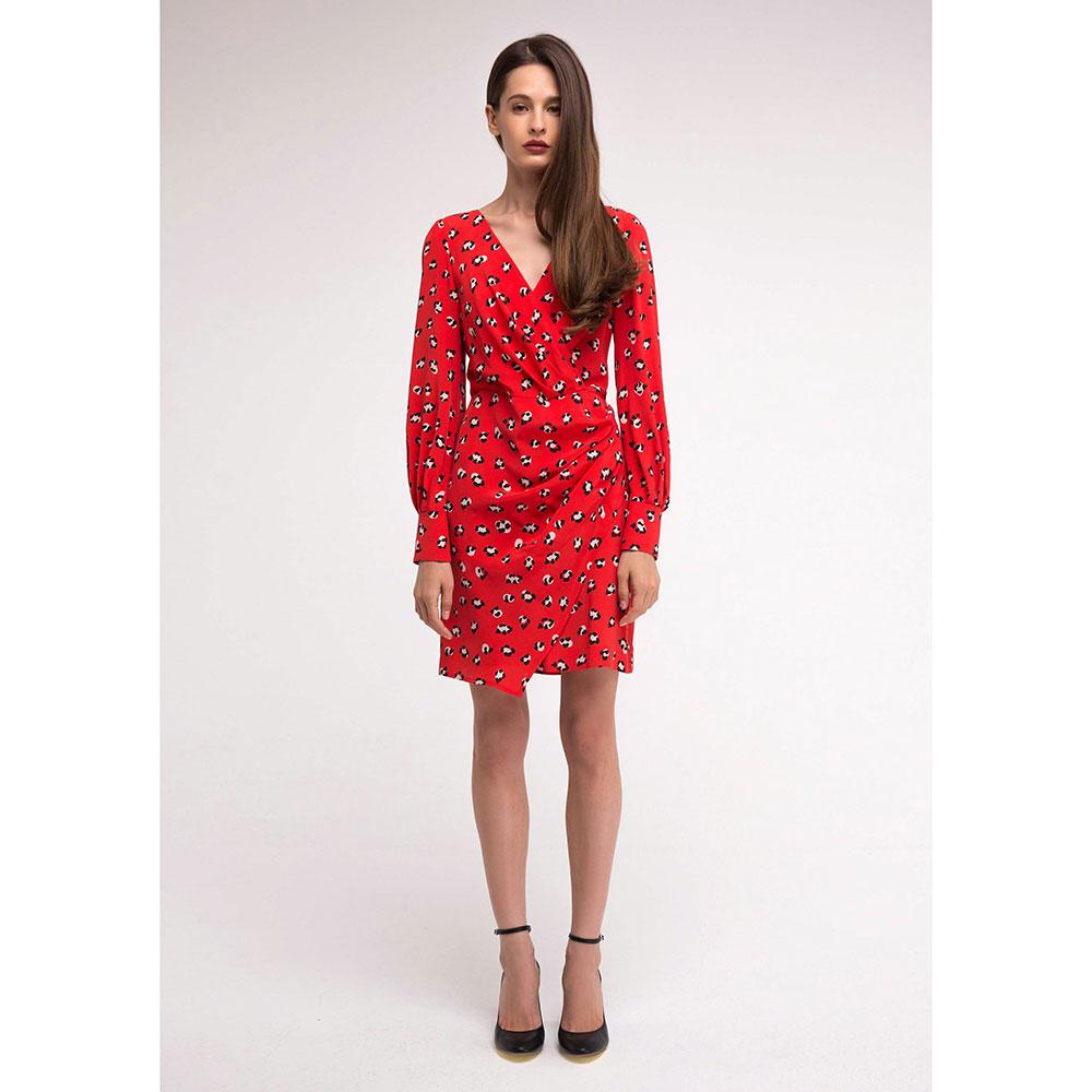 Красное платье Shako на запах