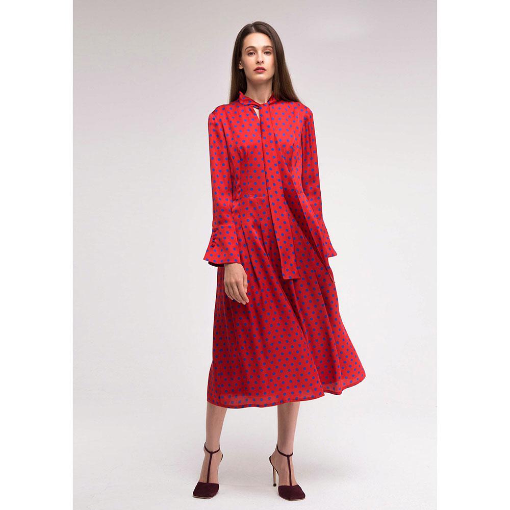 Красное платье Shako с в горошок