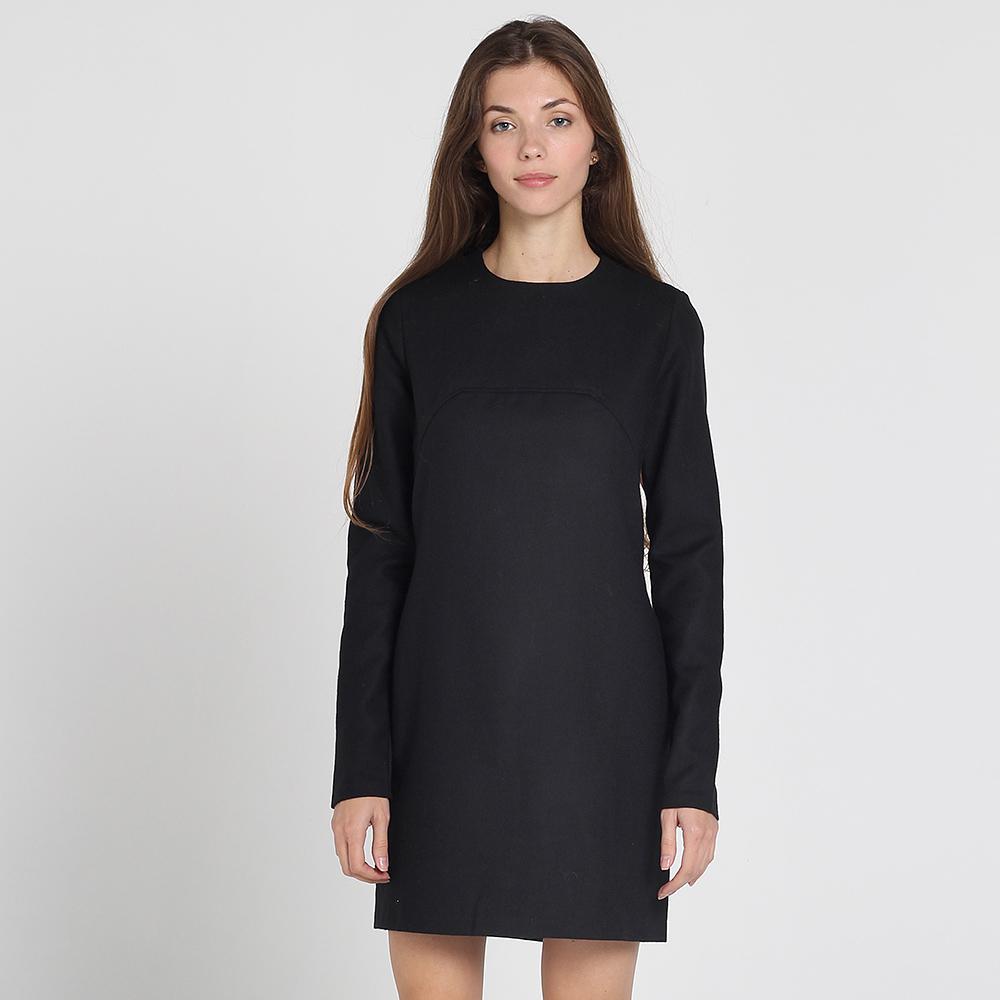 Черное платье Kristina Mamedova с длинным рукавом