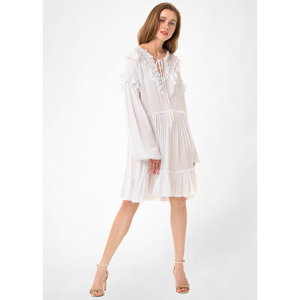 Белое платье WeAnnaBe с пышной юбкой до колен