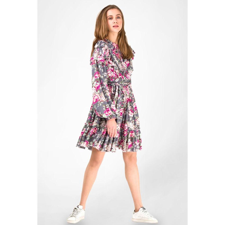 Серое платье WeAnnaBe с цветочным принтом