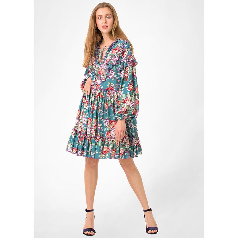 Бирюзовое платье WeAnnaBe с цветочным узором