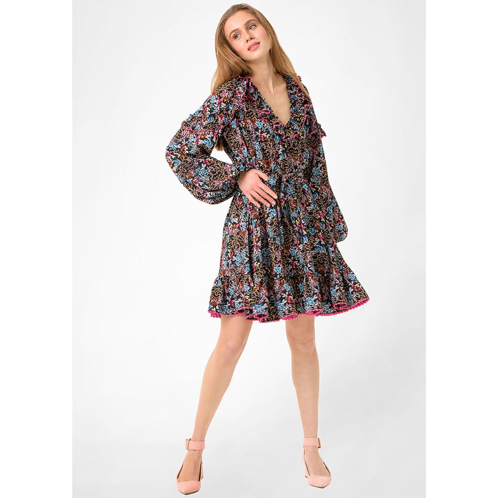 Платье WeAnnaBe синего цвета с широким рукавом