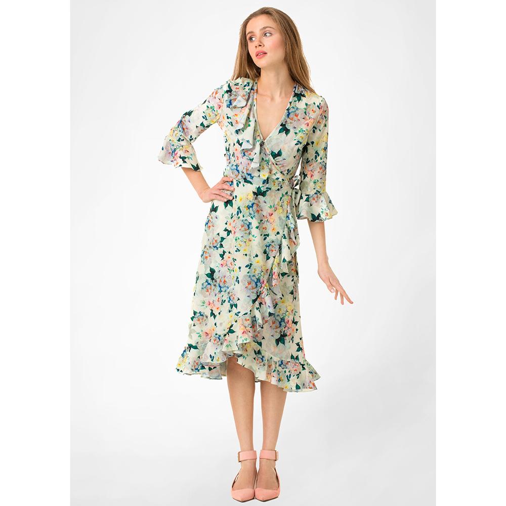 Платье миди WeAnnaBe на запах с цветочным принтом
