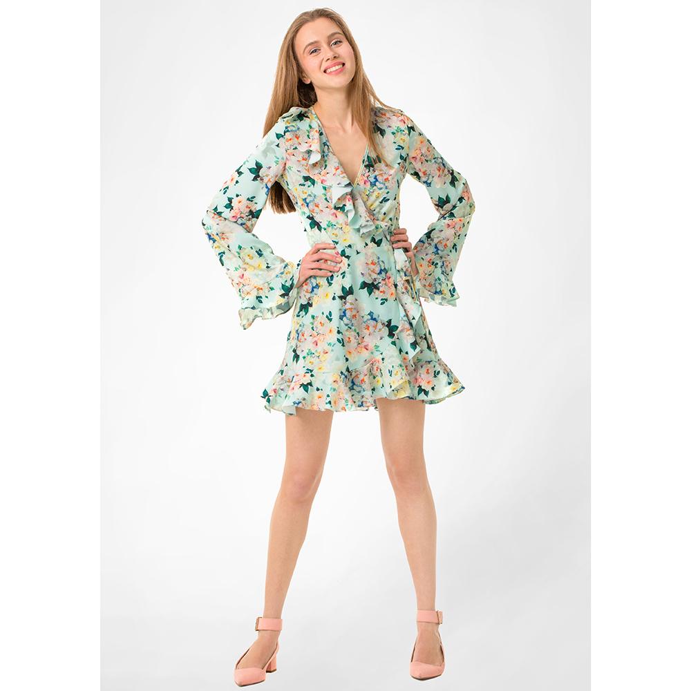 Зеленое платье WeAnnaBe с цветочным принтом