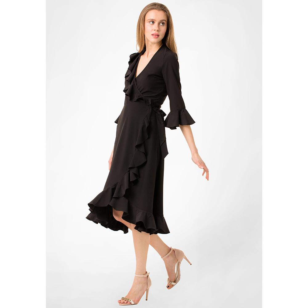 Черное платье миди WeAnnaBe с пышной юбкой