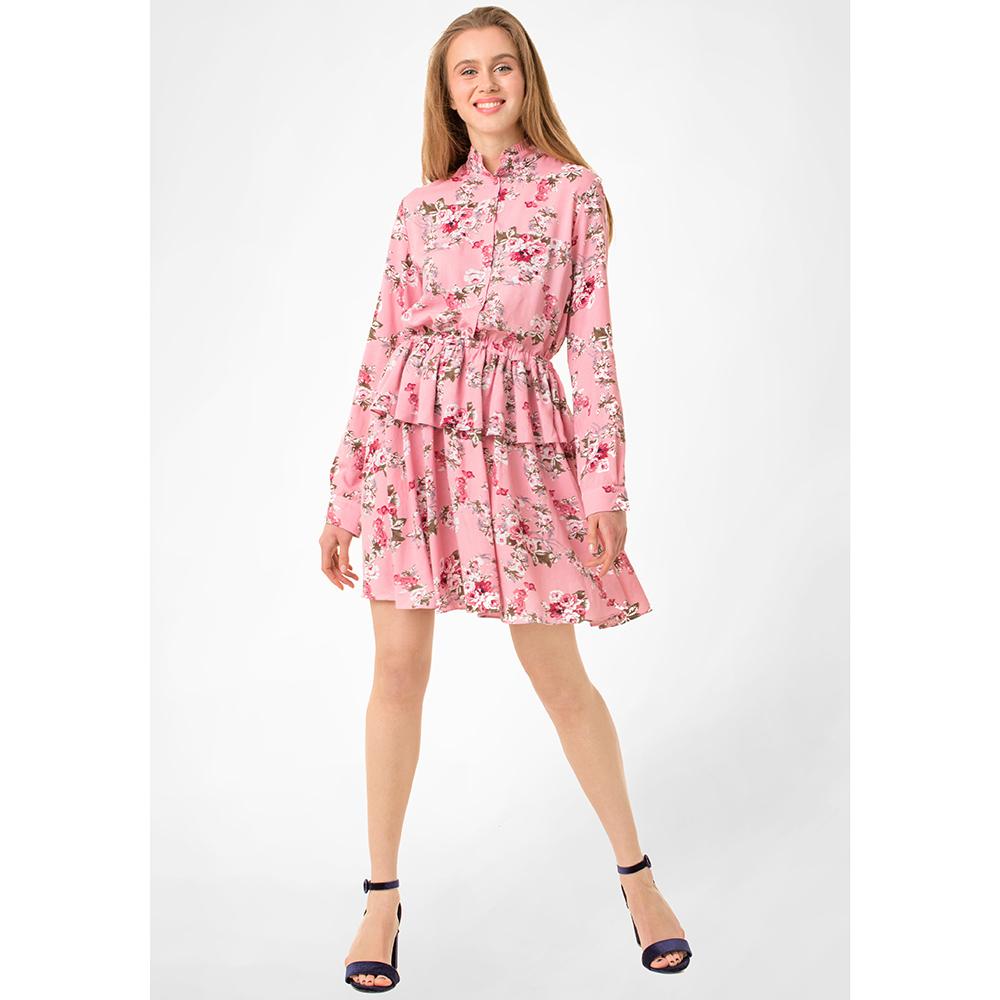 Розовое платье WeAnnaBe с цветочным принтом