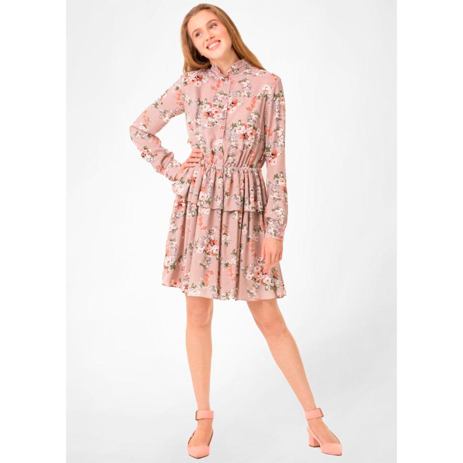Бежевое платье WeAnnaBe с цветочным принтом