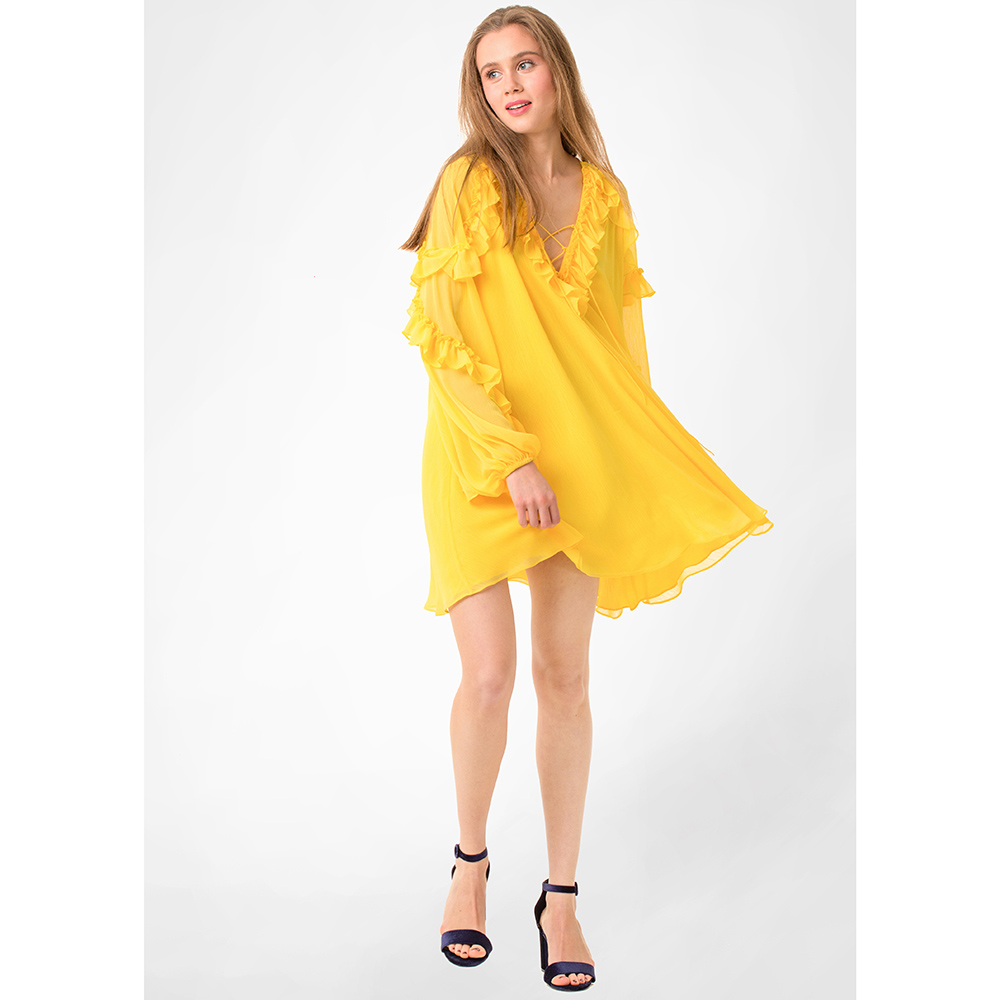 Платье WeAnnaBe желтого цвета с пышной юбкой