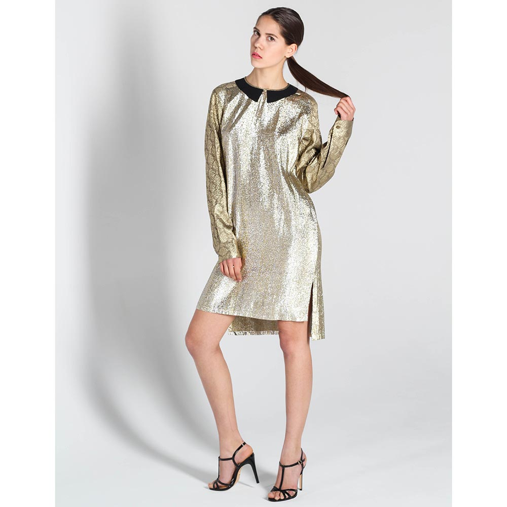 Платье Stella McCartney золотистого цвета прямого кроя