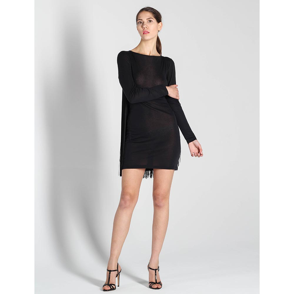 Короткое платье Stella McCartney с бахромой на спинке