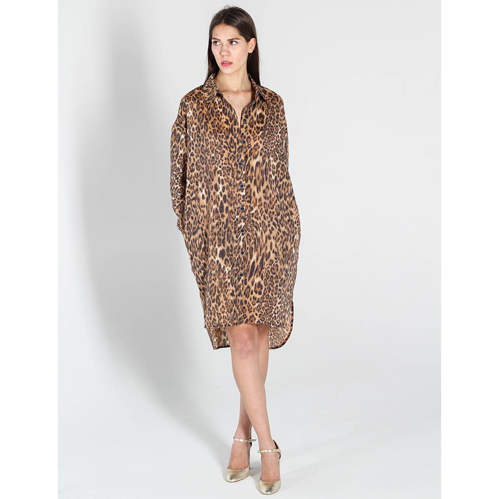 Платье-рубашка Kristina Mamedova с леопардовым принтом