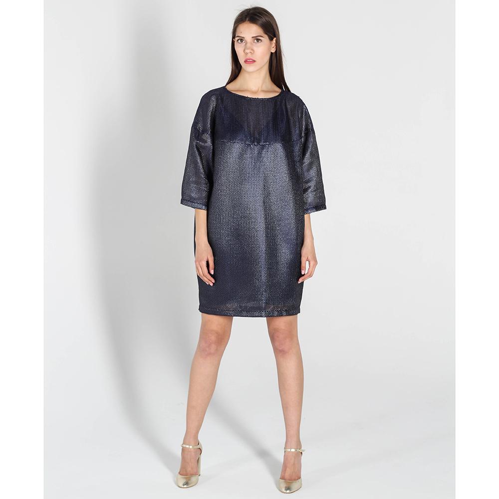 Платье-бочонок Kristina Mamedova синего цвета с перфорацией