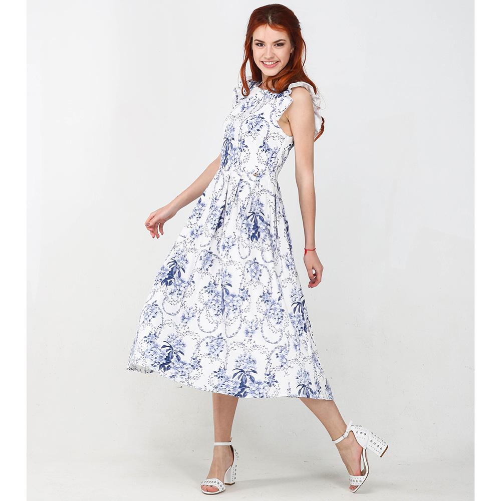 Белое платье Blugirl Blumarine с пышной юбкой