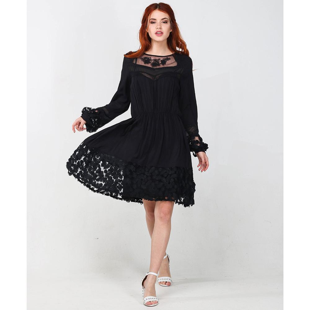 Черное платье Blugirl Blumarine с кружевом