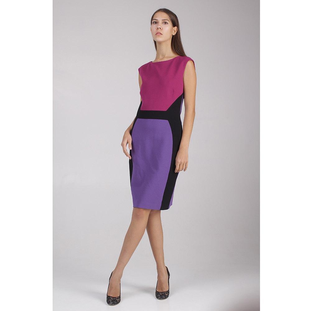 Платье сиренево-розовое Emilio Pucci с черными вставками