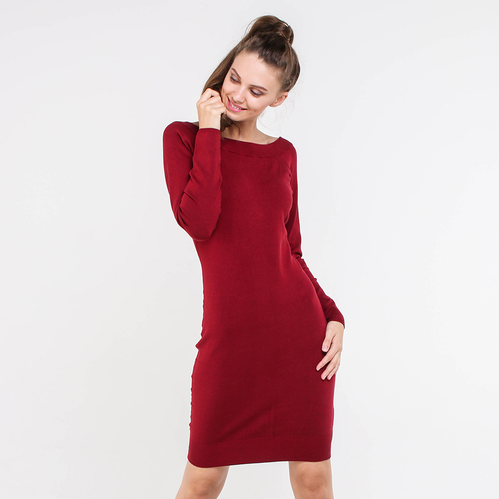 Платье-футляр Marciano бордового цвета