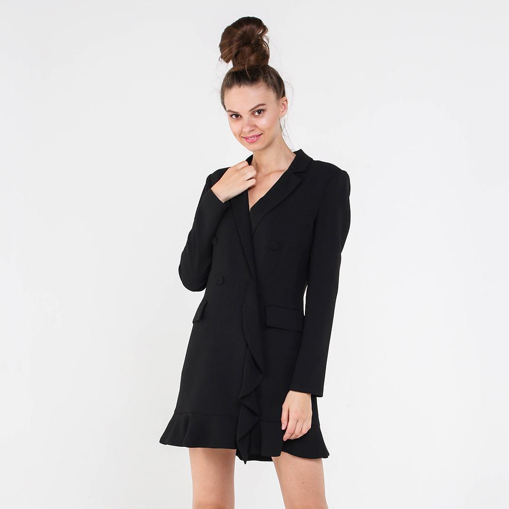 Черное платье-пиджак Marciano на пуговицах