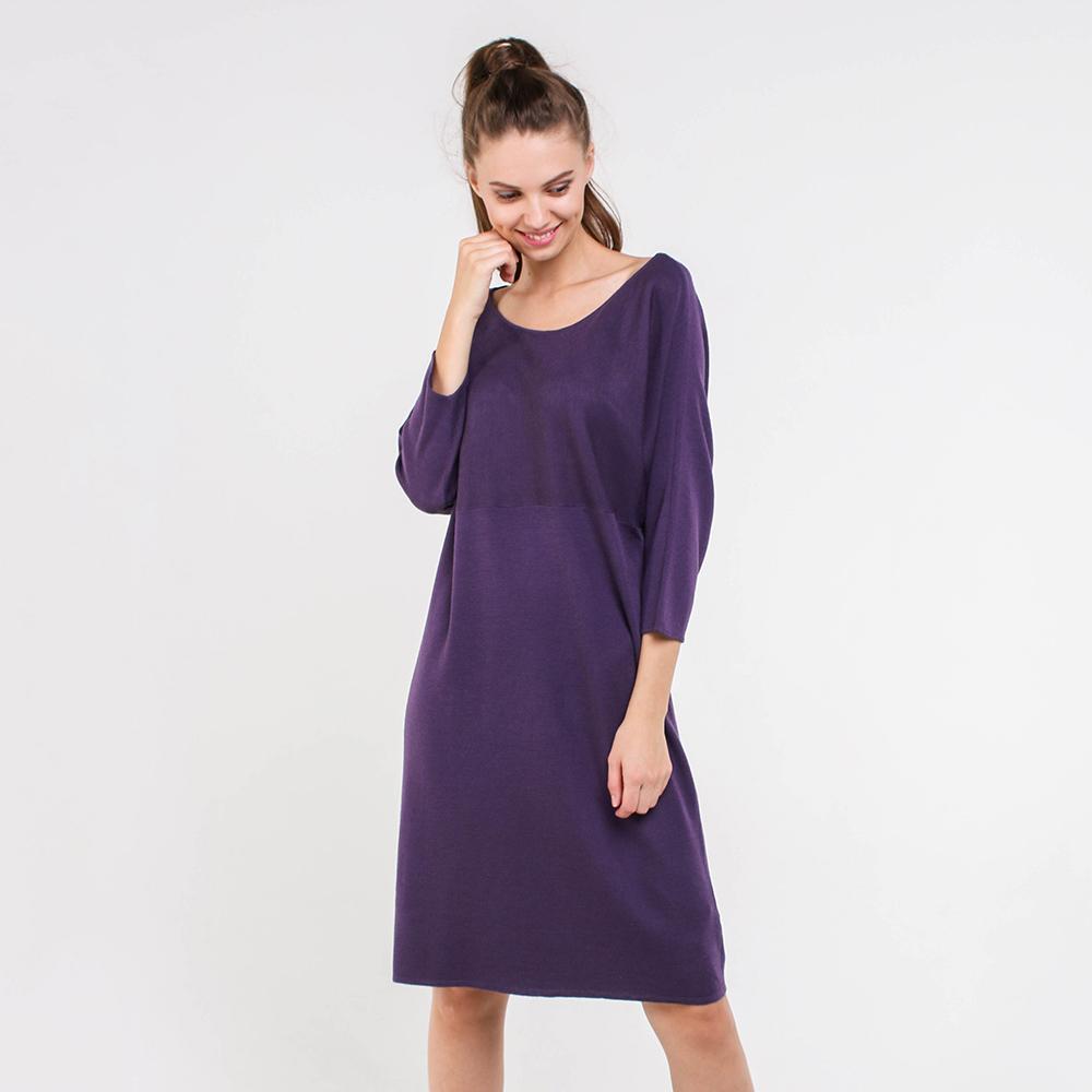 Фиолетовое платье Trussardi Jeans с рукавами три четверти
