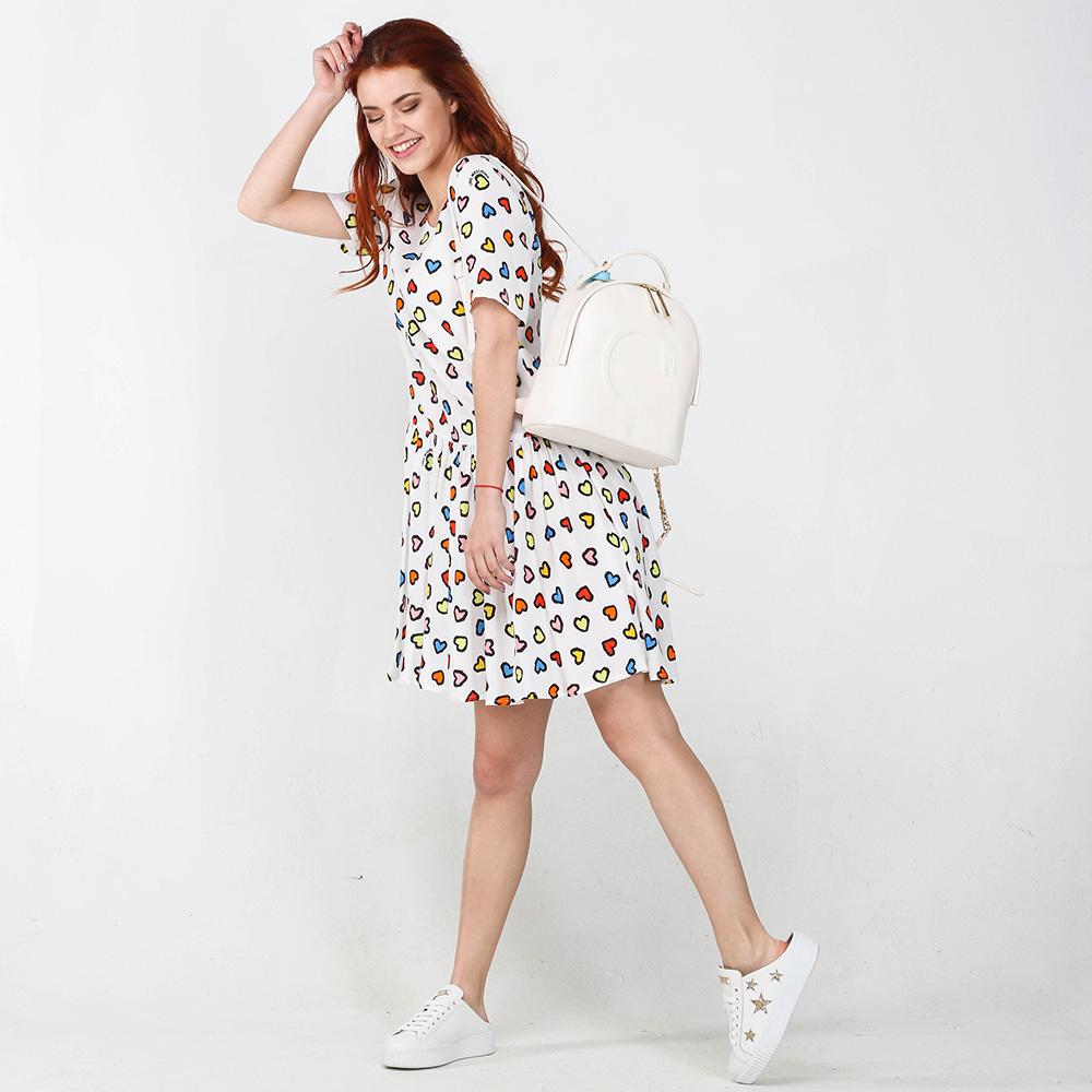 Белое платье Love Moschino с пышной юбкой