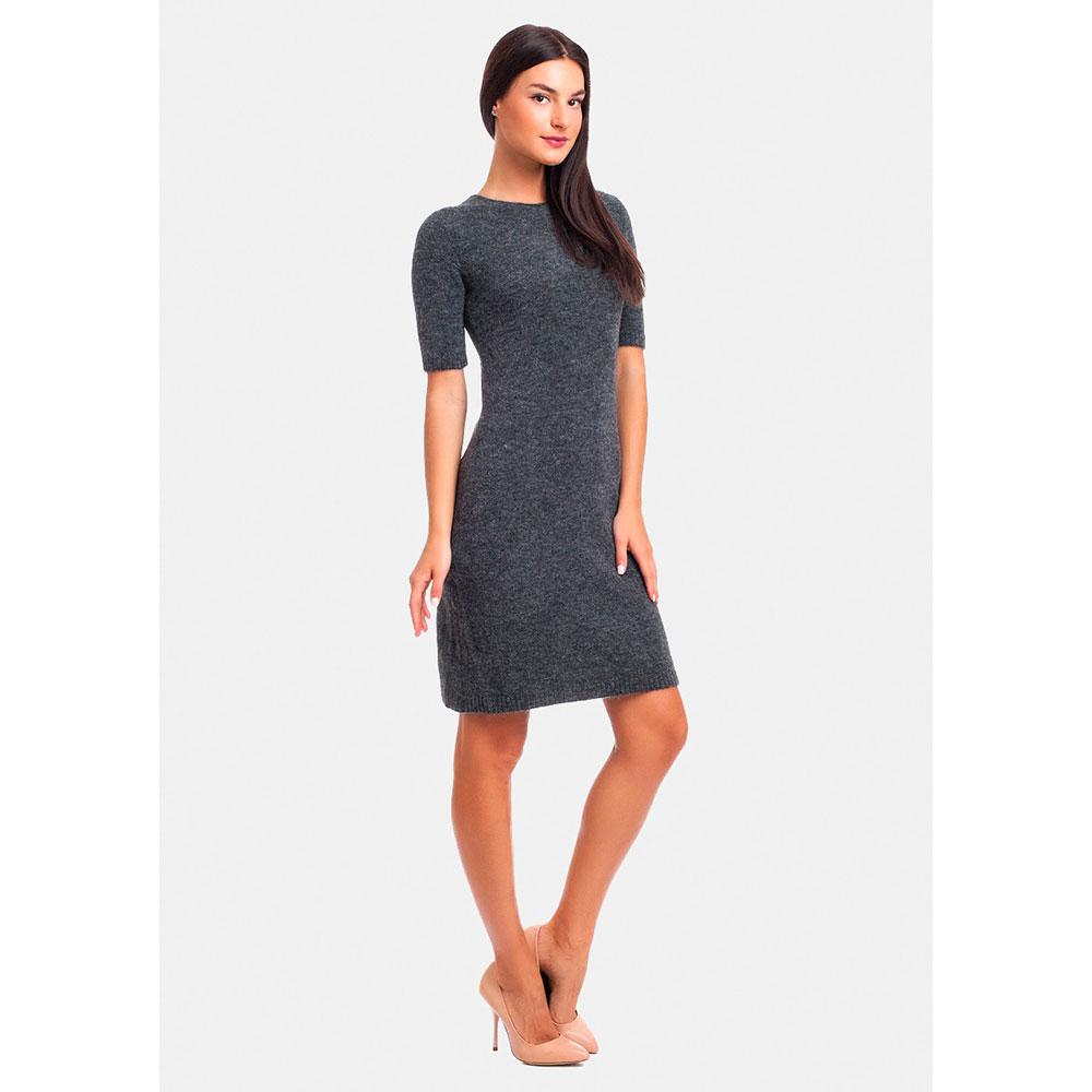 Мягкое трикотажное платье RITO серого цвета