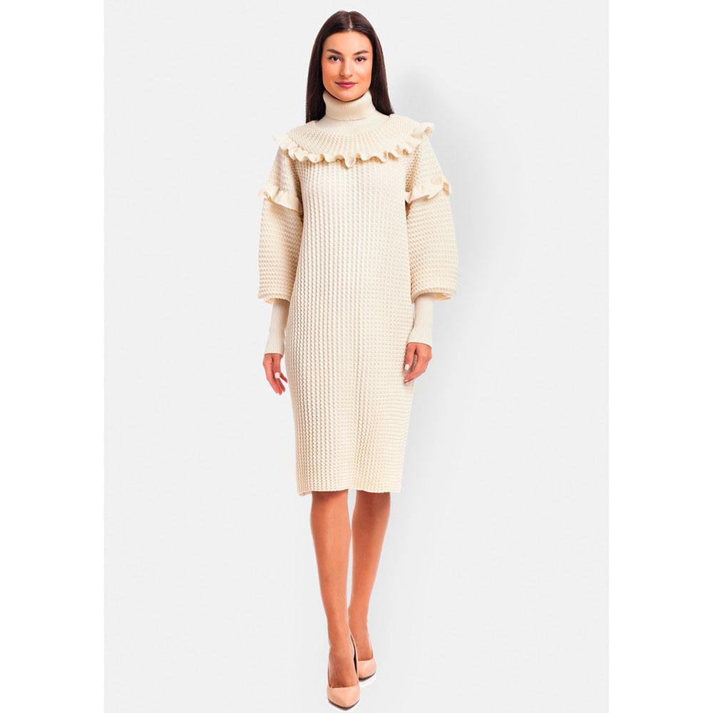 Платье с рюшами RITO с высокими манжетами