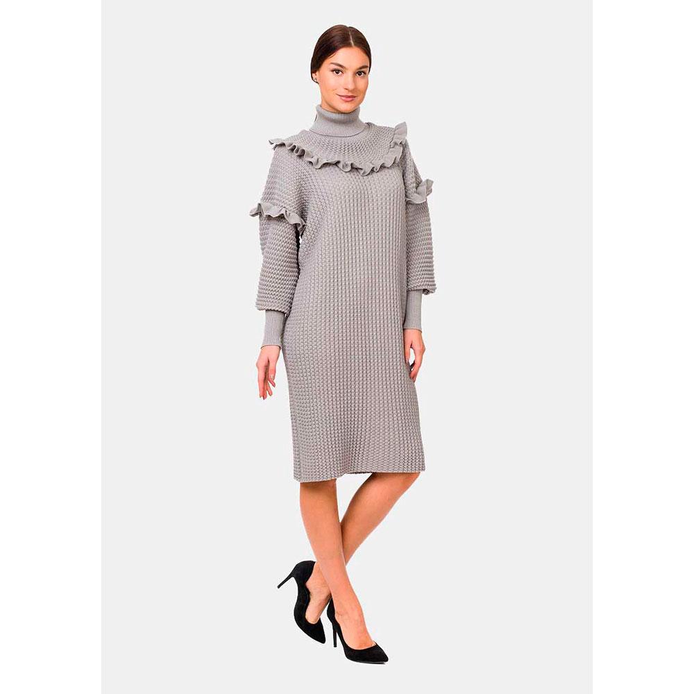 Трикотажное платье RITO с рюшами и высокой горловиной