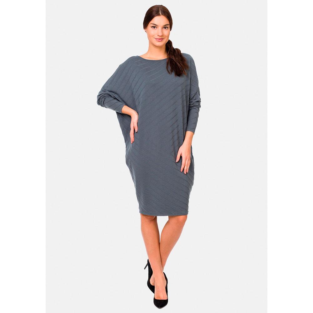Трикотажное платье RITO в стиле оверсайз серого цвета