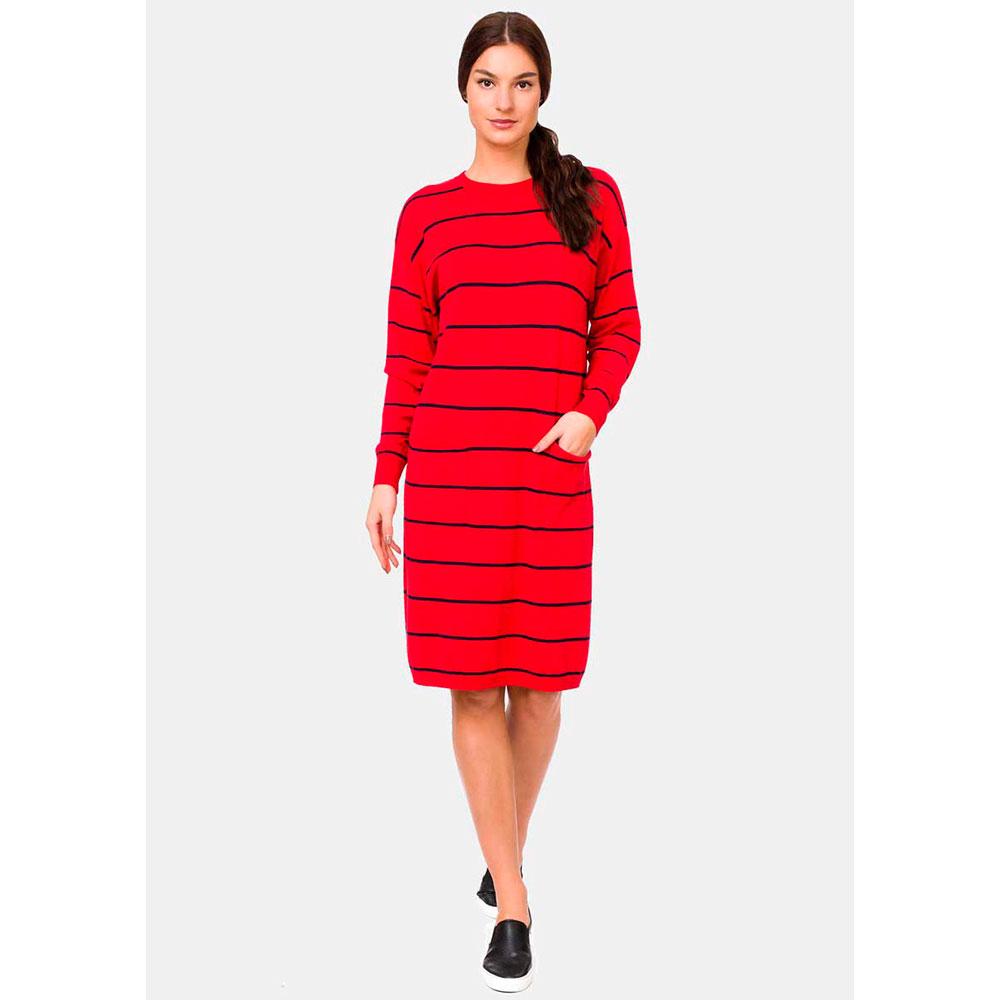 Красное платье RITO из трикотажа прямого силуэта