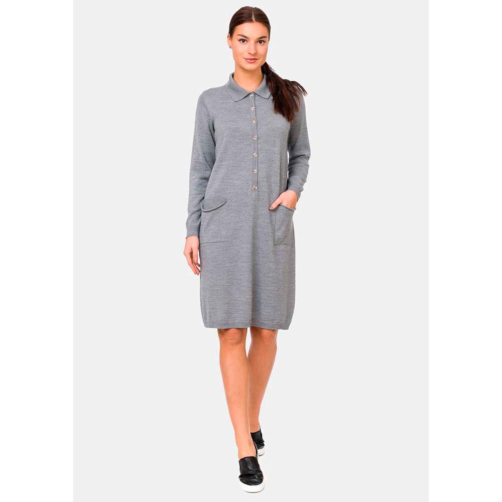 Платье RITO с планкой на пуговицах и накладными карманами