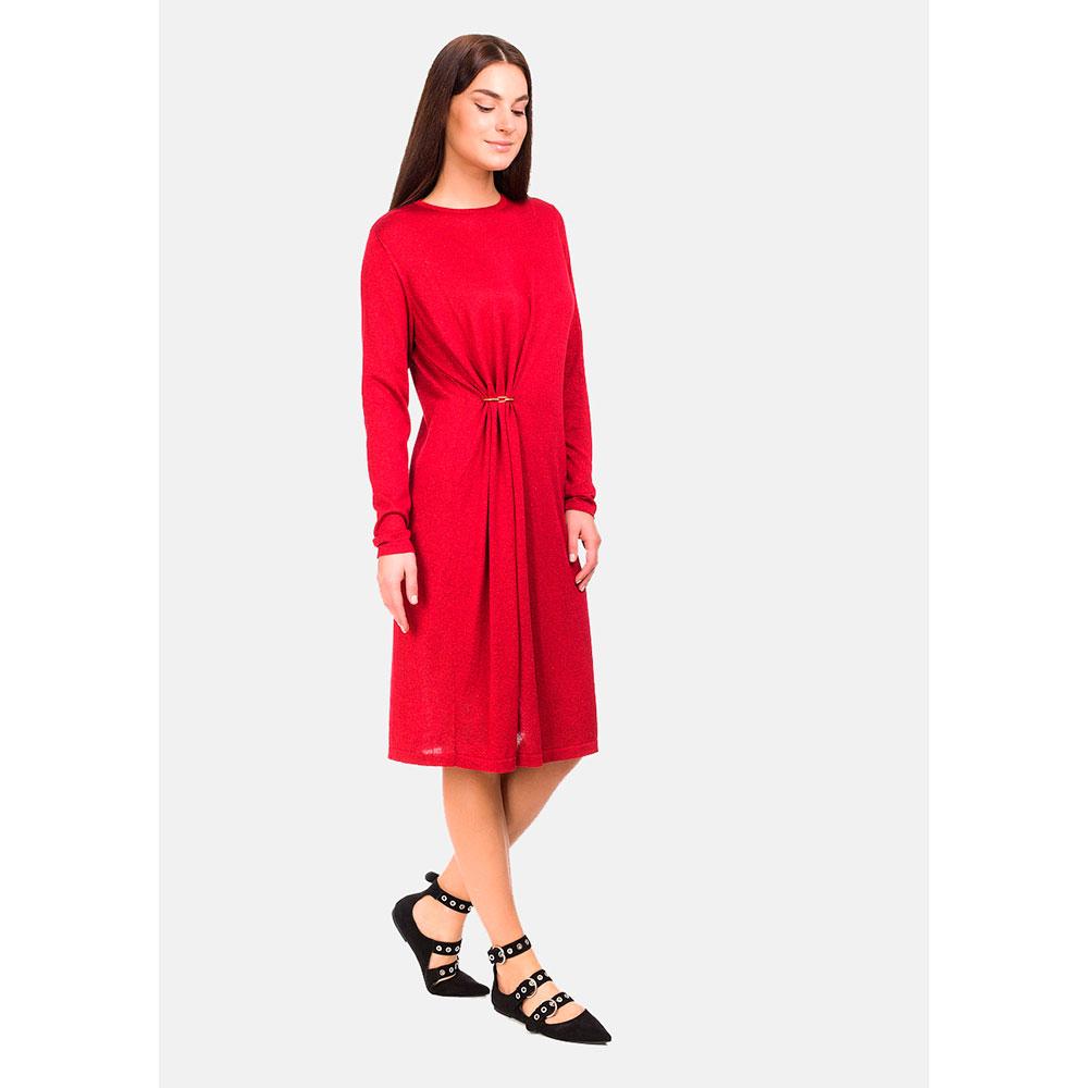 Платье трикотажное RITO с декоративной застежкой
